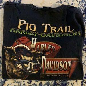 Vintage  Harley Davidson T-shirt Pig Trail XL